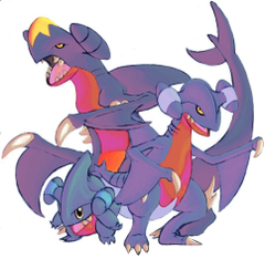 Garchomp Gible and Gabite by DragonicDarkness