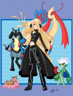 Pokemon Champion Cynthia image Cynthia and Her Team HD wallpapers