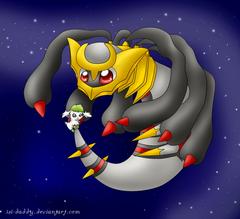 Pokemon Couples image Giratina and Shaymin HD wallpapers and