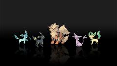 Pokemon espeon jolteon arcanine leafeon glaceon wallpapers
