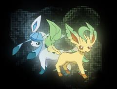 Pokémon Photo leafeon and glaceon