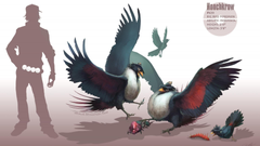 Pokemon birds digital art artwork honchkrow realistic wallpapers