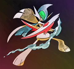 I edited a Gallade picture I found on Google to fit a phones