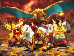 Nintendo pokemon mountains landscapes fire lava Blaziken