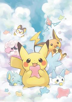 Pokémon Pikachu Shinx Pachirisu Raichu Flaaffy Rotom Emolga