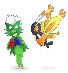 Roserade and Mothim by ColonelCheru