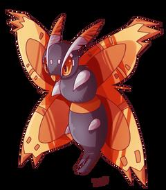 Mega Mothim by Dekpi