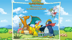 Pokemon pikachu front charizard meganium shaymin prinplup