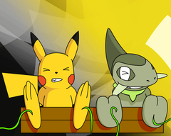 Pika and Axew