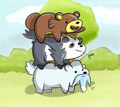 Beartic Ursaring y Pangoro