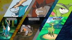 Cobalion Terrakion and Virizion will catchable in Pokemon Omega