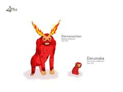 Darmanitan and Darumaka by Dr