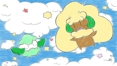 Whimsicott and Cottonee by FaXaNadu790