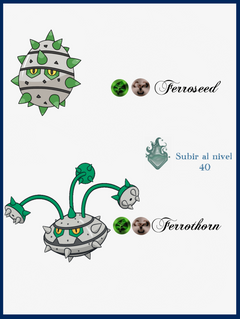 Image of Ferroseed Evolution Chart