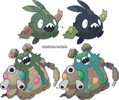 Trubbish and Garbodor v 2 by Xous54