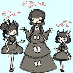 Gothita Gothorita and Gothitelle by Amoema