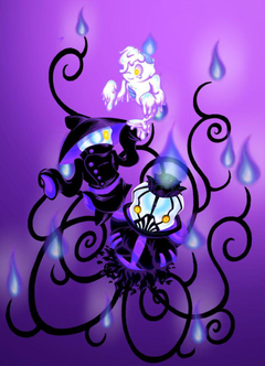 POKEMON gijinka Litwick Lampent and Chandelure by Melle