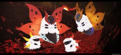 MMD Pokemon Volcarona and Larvesta by kaahgomedl