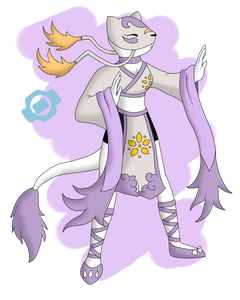 If Mienshao Were a Digimon by HaruByakko