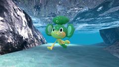 Pansage underwater by kuby64