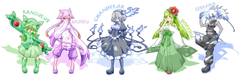 anthropomorphism chandelure fire flowers hat lilligant mienshao