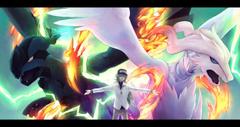 Pokemon green hair hat n pokemon rackety reshiram zekrom wallpapers
