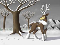 Seasonal Sawsbuck Winter by fab