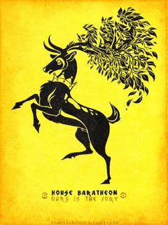 Pokemon Game of Thrones Sawsbuck Baratheon by KaiKoa