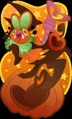 Pumpkin Swoobat by saiyamewome