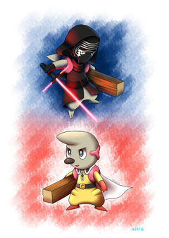 Kylo Timburr or Timburr Ren and One Punch Timburr by BluuKiss on