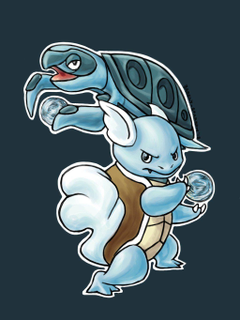 Wartortle And Tirtouga by Barely