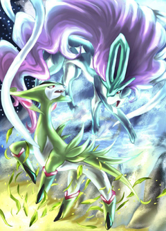 Virizion and Suicune by Aoi