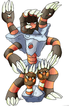 Pokemon of the day Gen 6 Binacle Barbaracle Barnacles