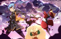 ace trainer bisharp blue hair darkrai nasudora pokemon sky