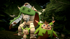 Chespin Quilladin and Chesnaught by yoshipower879