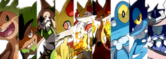 braixen chesnaught chespin delphox fennekin and others