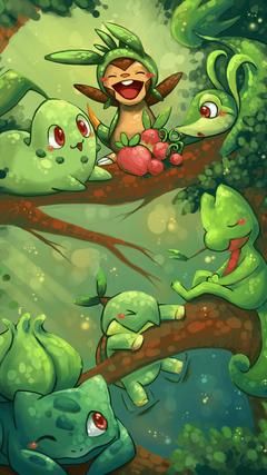 x1920 Grass Pokemon AnimePhoneWallpapers
