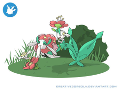 Florges family by CreativeCorsola