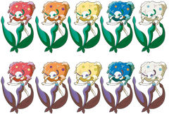 All Florges Colors by GeneralGibby