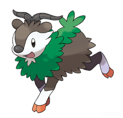 Skiddo the evolution of Go goat from Pokemon X and Y