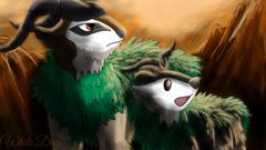 Gogoat and Skiddo