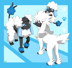 Furfrou Spudle and Hydrudle by Endless