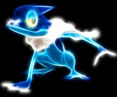 Frogadier neon by darthsaber89
