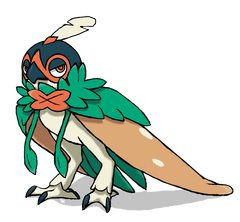 I pondered what Decidueye looked like with its hood down and