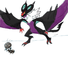 noivern and scatterbug by roblee96