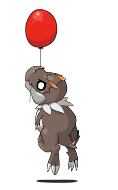 Tyrunt on a balloon by kiruki