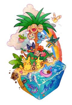 Pokemon Allan exeggutor vikavolt bounsweet pikachu mimikyu