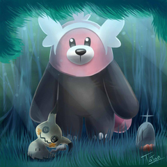 Bewear Mimikyu Pokemon Sun Pokemon Moon by tatanRG deviantart on
