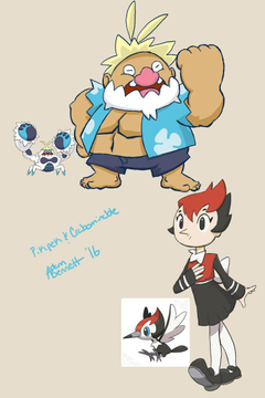 Crabominable and Pikipek by WanderingMindRoom