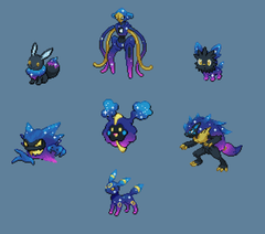OC I recolored more of my favorites in the Cosmog palette